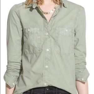 Madewell Green Oxford Button Down S